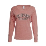 "Dubuque Fighting Saints Ladies Long Sleeve Shirt ""Twisted"""