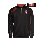 "Dubuque Fighting Saints Adult 1/4 Zip Sweatshirt  ""Piping"""