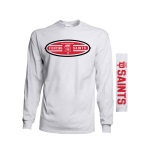 "Dubuque Fighting Saints Adult Long Sleeve ""Badger"""